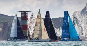 Racing past the Needles Lighthouse in the RORC's Cowes-Dinard-St Malo Race - photo © Paul Wyeth / pwpictures.com
