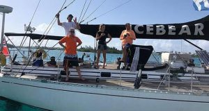 The team of Icebear enjoying a respite in St George's harbor - Spirit of Bermuda Charity Rally © Sailing Yacht Research Foundation