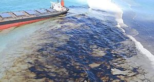 Wakashio Breached: Oil Leaks from Grounded Bulk Carrier in Mauritius, Police Investigation Launched August 6, 2020 by Mike Schuler