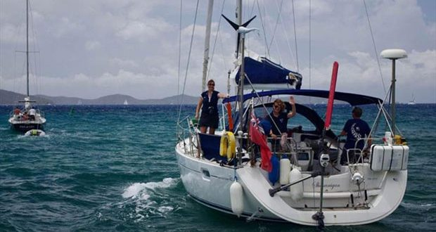 Michaela Parker is over the moon to have won the CA/First Class Sailing transat prize © The Cruising Association
