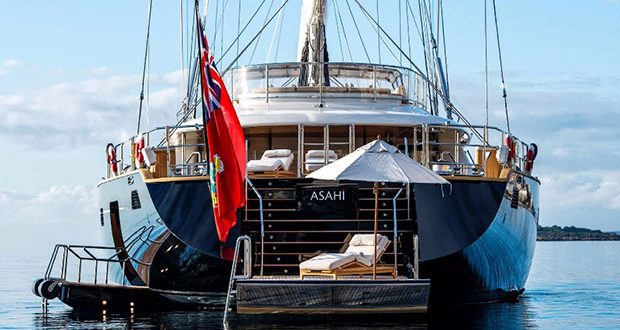 In the last few months, sailing superyachts like the 184-foot Asahi have become hot commodities on the brokerage market. Courtesy Burgess Yachts