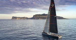 Alex Schaerer's Maxi 72 Caol Ila R dominated the first part of the 2019 season, within a matter of weeks winning both Regata dei Tre Golfi and Rolex Giraglia. Above Caol Ila R soon to pass Capri. © Studio Borlenghi / International Maxi Association