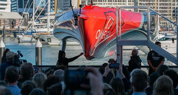 Emirates Team New Zealand reveal 'Te Rehutai' - their second generation AC75 © Emirates Team New Zealand