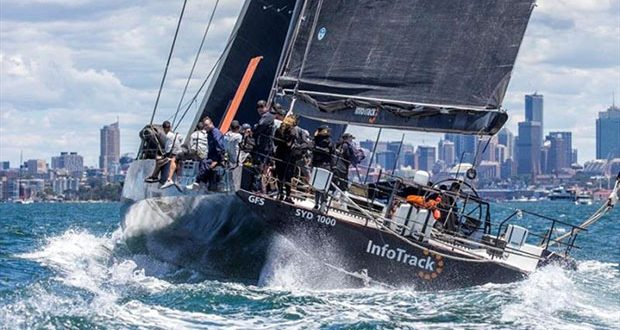 Christian Beck's InfoTrack was all-class in Tuesday's showcase Sydney Harbour race. © Andrea Francolini