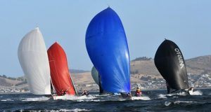 The SB20 fleet offers exciting one-design sailing. © Jane Austin