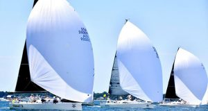 Racecourse action at the start of the 2019 Bayview Mackinac Race © Images courtesy of Martin Chumiecki/Element Photography