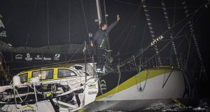 Line honours for Charlie Dalin on Apivia in the Vendée Globe - 80 days, 6 hours, 15 minutes, 47 seconds © Jean-Marie Liot / Alea #VG2020