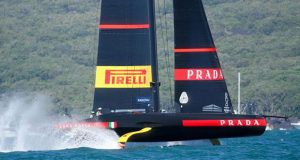Luna Rossa sets up to cross the finish line and progress to the Final of the Prada Cup - Semi-Finals - January 30 © Richard Gladwell / Sail-World.com