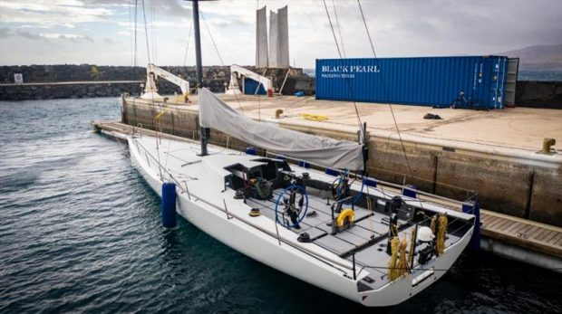Stefan Jentzsch's brand new IRC56 Black Pearl docked at Calero Marinas Puerto Calero ready for the start of her first race - the 2021 RORC Transatlantic Race - starting on Saturday 9th January © James Mitchell / RORC