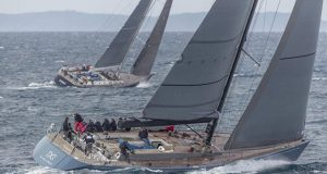 The Swan 82FD Kallima and the Swan 80 Umiko competing in IR1 during Les Voiles de Saint-Tropez © Gilles Martin-Raget
