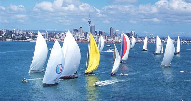 The Waitemata Harbour is one of the most picturesque harbours for sailing anywhere in the world. © vor Wilkins/Offshore Images