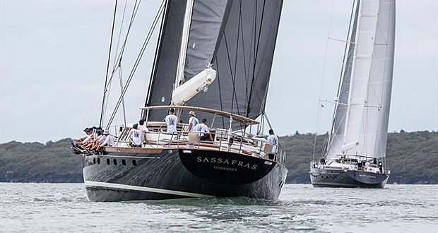 Sassafras sailing in light airs on Day 2 of the Mastercard Superyacht Regatta - photo © Jeff Brown BREED Media