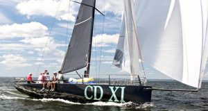 Christopher Dragon XI struts her stuff during the 2019 Block Island Race - photo © © 2021, Courtesy of Storm Trysail Club & Rick Bannerot, Ontheflyphoto.net