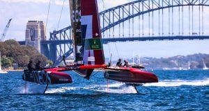 SailGP practice race in Sydney ©Nic Douglass / www.AdventuresofaSailorGirl.com