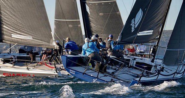 Dark Star and Swish during MC38 2020 Season Act 3 on Sydney Harbour © Tilly Lock Media