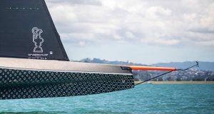 BRITANNIA takes flight in Auckland Harbour - photo © C Gregory