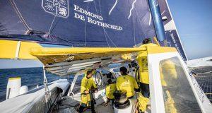 Maxi Edmond de Rothschild returns to Lorient for repairs - photo © E.Stichelbaut / polaRYSE / GITANA S.A