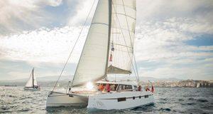 Natasha Lambert and her crew on Blown Away complete their Atlantic crossing © James Mitchell