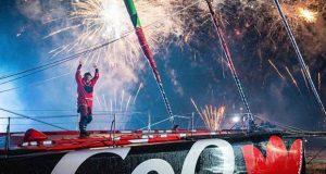 Maitre CoQ IV skipper Yannick Bestaven clinches victory © Bernard Le Bars