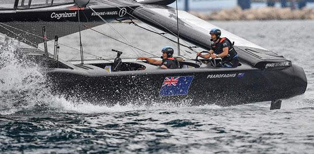 New Zealand SailGP Team helmed by interim skipper Arnaud Psarofaghism in action ahead of racing on race day 1. Italy SailGP, Event 2, Season 2 in Taranto, Italy. 05 June - photo © Ricardo Pinto / SailGP