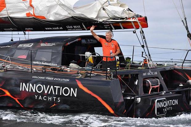 Skipper Norbert Sedlacek set sail for Circumnavigation Record Attempt © Ant Arctic Lab